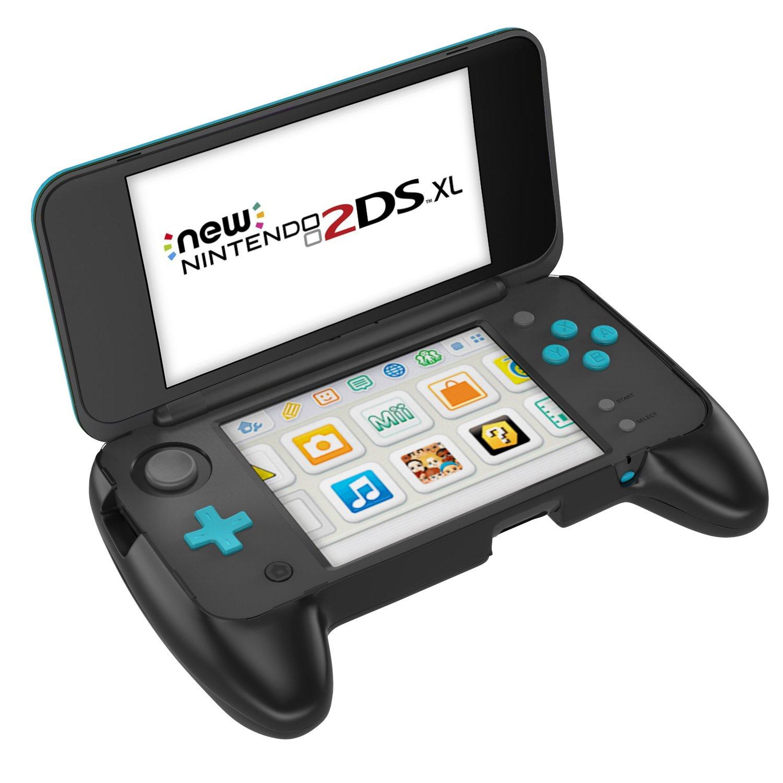 MoKo Grip para Nintendo New 2DS XL – Mango antideslizante con soporte para New Nintendo 2DS XL/LL (2017) - Negro