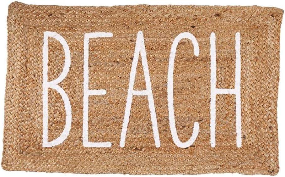 Mud Pie Jute Beach Mat