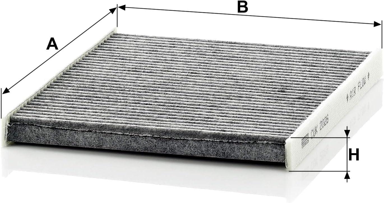Original Mann Filter Innenraumfilter Cuk 2026 Pollenfilter Mit Aktivkohle Für Pkw Auto