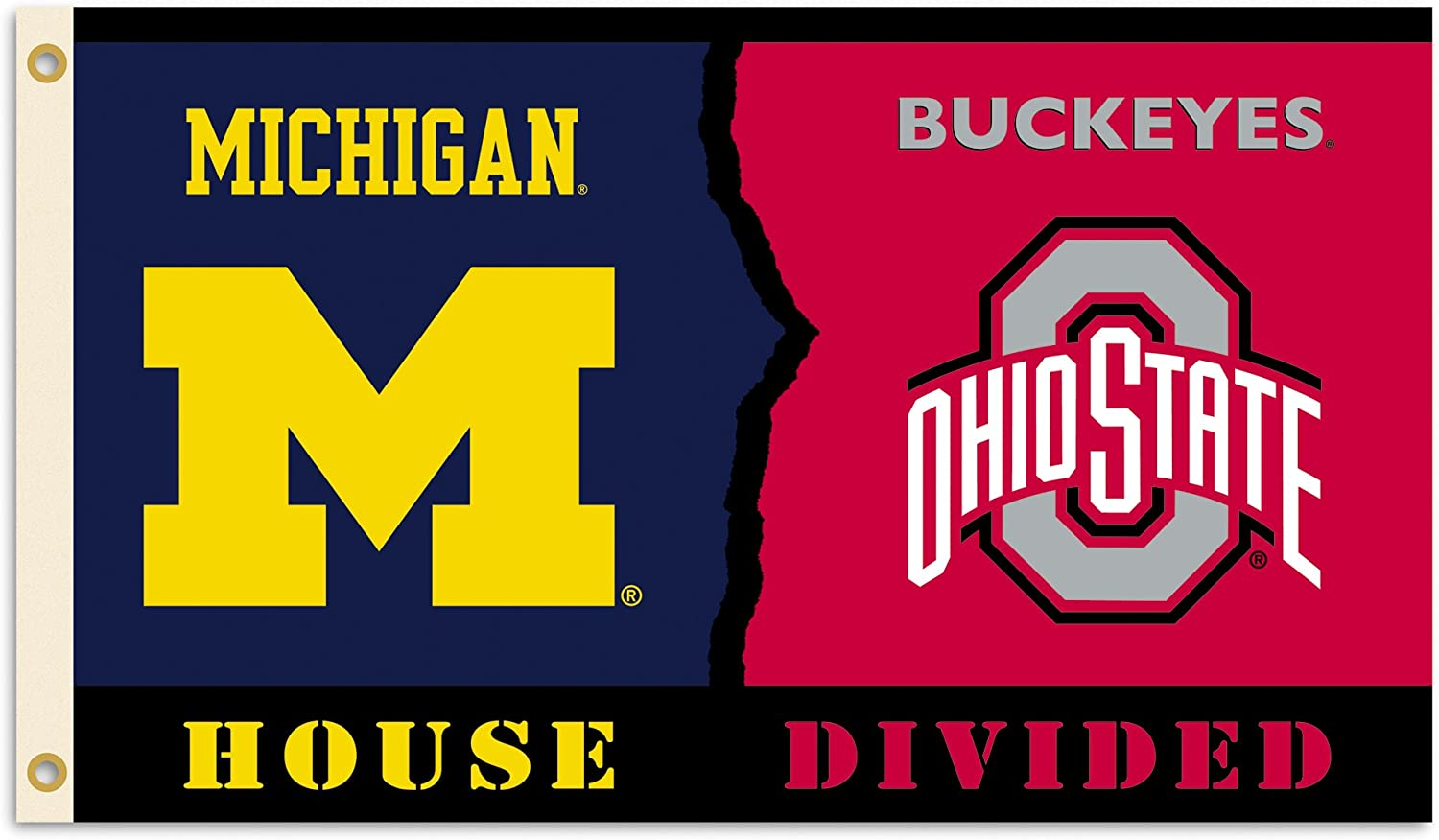 BSI NCAA Unisex 3 Ft. X 5 Ft. Flag with Grommets - Rivalry House Divided