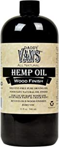 Daddy Van's All Natural Hemp Oil Food Safe Wood Finish and Restorer (32 oz.)