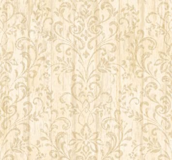 Chesapeake HTM51164 Cynthar Cream Pine Branch Trail Wallpaper