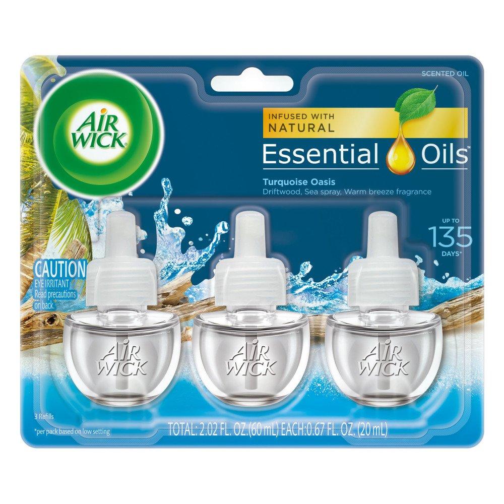Air Wick Scented Oil 3 Refills, Apple Cinnamon Medley, (3X0.67oz), Air Freshener ASA-170