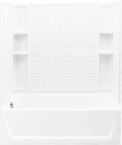 STERLING 71120112-0 Ensemble Bath and Shower Kit, 60-Inch x 32-Inch x 76-Inch, Left-Hand, White