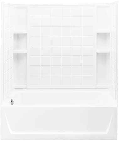Sterling Plumbing 71120110 0 Ensemble Bath And Shower Kit, 60 Inch X 32