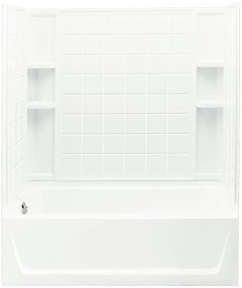 Sterling Plumbing 71120110-0 Ensemble Bath and Shower Kit, 60-Inch ...