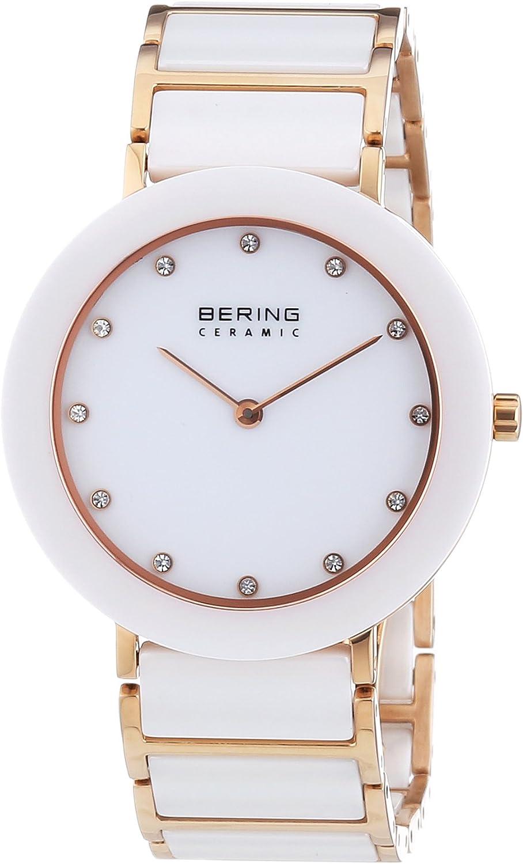 BERING Reloj Analógico para Mujer de Cuarzo con Correa en Acero Inoxidable 11435-766