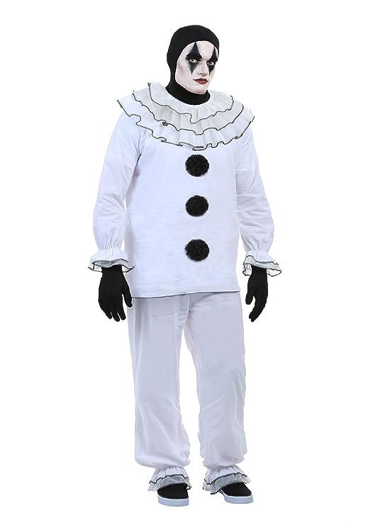Men's 1900s Costumes: Indiana Jones, WW1 Pilot, Safari Costumes Mens Vintage Pierrot Clown Costume $54.99 AT vintagedancer.com