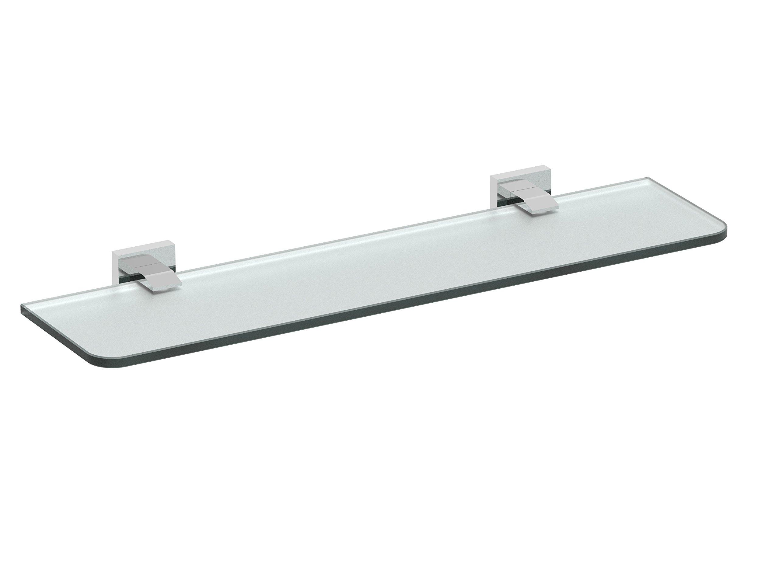 Eviva EVAC80BN Klim Glass Shelf Wall Mount (Brushed Nickel) Bathroom Accessories Combination