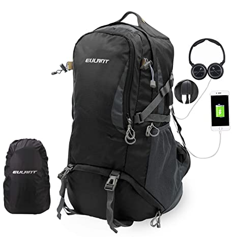 913187cc9c EUALNT 40L   50L   60L Lightweight Packable Travel Hiking Backpack  Anti-Theft College Backpack