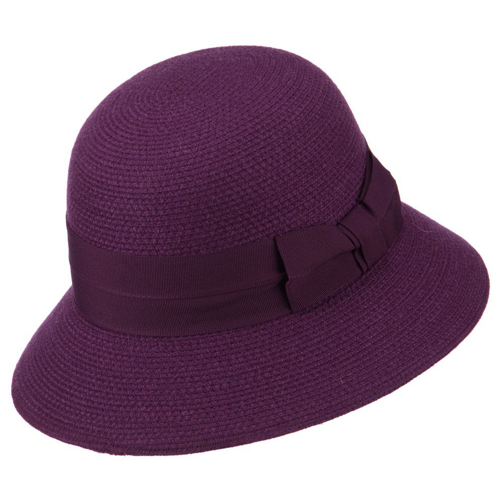 e63c69583c7 Women s Wool Felt Bucket Shape Hat - Purple OSFM at Amazon Women s Clothing  store