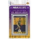 2017-18 NBA Hoops Los Angeles Lakers Factory Sealed Team Set (11 Cards)