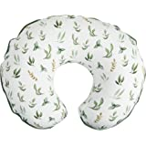 Boppy Nursing Pillow Cover –Organic Fabric | Green Little Leaves Side and Sage Dots Side | Organic Cotton Fabric | Fits Boppy
