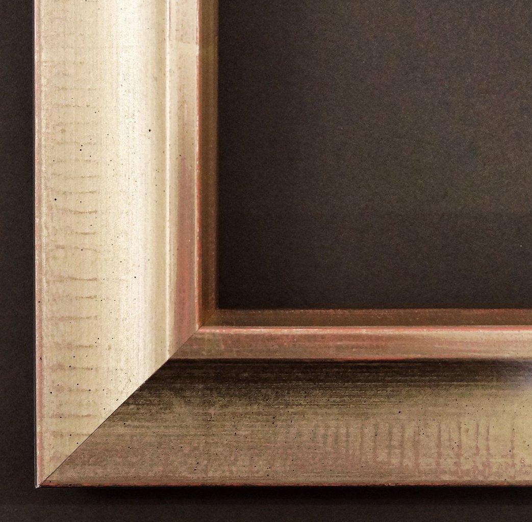 Spiegel Wandspiegel Badspiegel Flurspiegel Garderobenspiegel - Über 200 Größen - Kronach antik Platin, handgrundiert 4,3 - Außenmaß des Spiegels 100 x 140 - Über 100 Größen zur Auswahl - Wunschmaße auf Anfrage - Modern, Antik