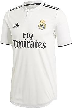 adidas 18/19 Real Madrid Home Authentic Camiseta, Hombre: Amazon.es: Deportes y aire libre
