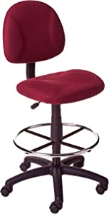 Boss Office Products Ergonomic Works Drafting Chair without Arms in Burgundy