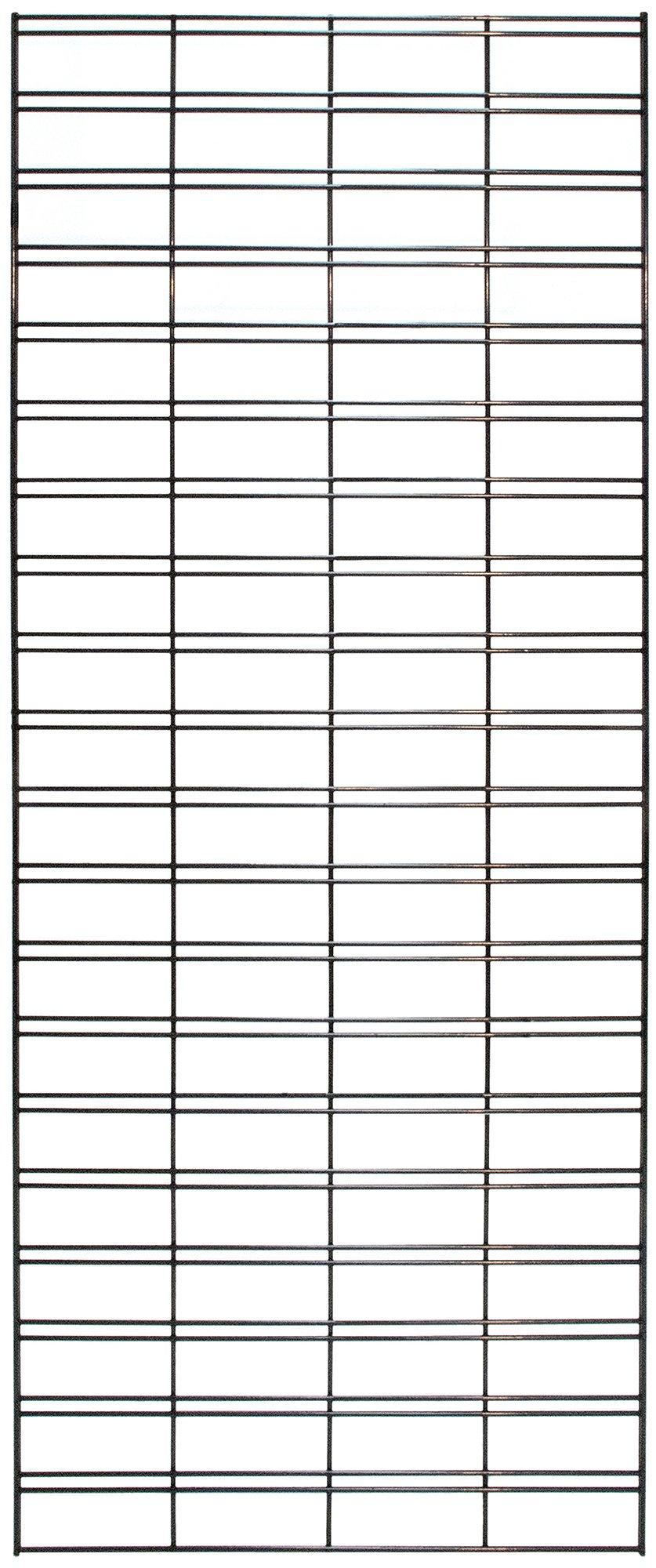 KC Store Fixtures A04250 Slatgrid Panel, 2' x 4', Black (Pack of 3)