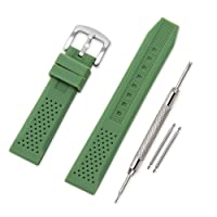Vinband Cinturini Orologi Alta qualità Orologi Bracciale in Caucciù - 16mm, 18mm, 20mm, 22mm, 24mm Gomma Cinturino Orologio Fibbia Dell'acciaio Inossidabile Spazzolato