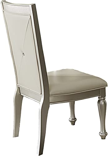 Homelegance Celandine Crystal Button Tufted Dining Chair