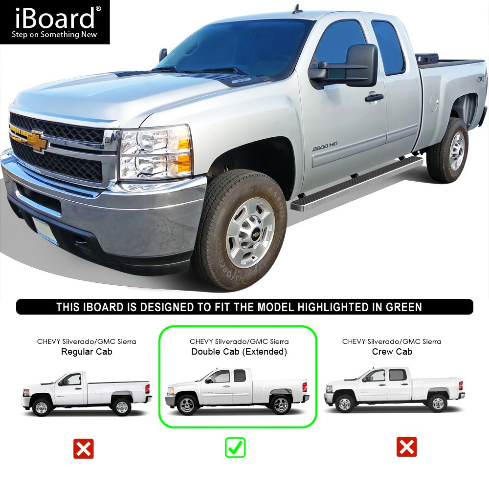 Nerf Bars | Side Steps | Side Bars Off-Road 6.5 Side Armor Aluminum Running Boards Custom Fit 1999-2006 Chevy Silverado GMC Sierra 1500//2500 Extended Cab /& 01-06 2500 HD//3500 /& 07 Classic