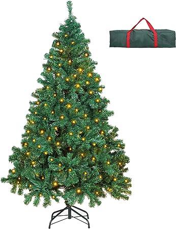 Albero Di Natale 800 Rami.Ousfot Albero Di Natale 180cm Con 400 Led 8 Modalita Luci Albero Di Natale 800 Rami Supporto Pieghevole In Metallo Alberi Di Natale Con Custodia Pvc Facile Da Montare Per Decorazioni Natalizie