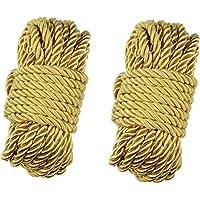 WYMAODAN Zachte Polyester Touwkoord, 2 STKS 10 M/33 Voeten 7 MM All Purpose Rope Craft Rope 100% Nylon Touw Natuurlijke…