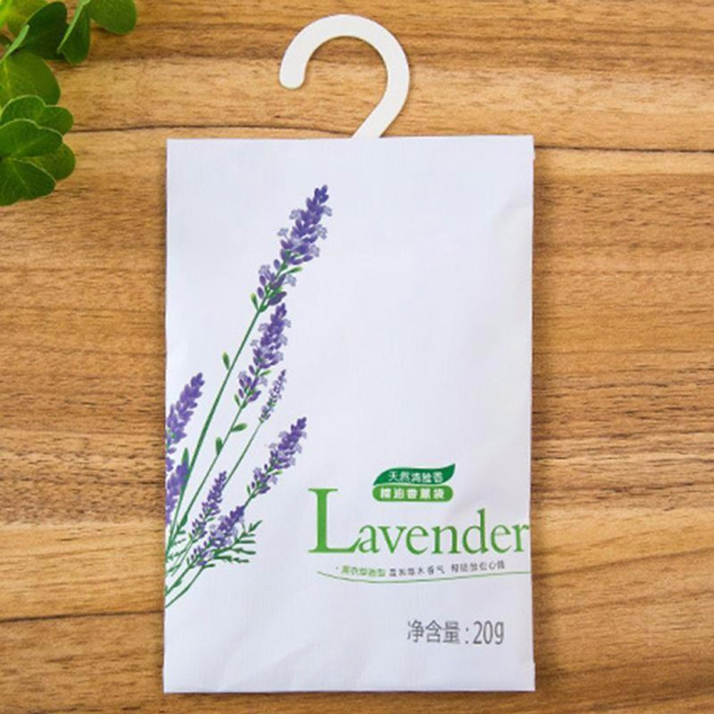 HOMYY Lemon Jasmine Sachet Bags Rose Lavender Scented Pouch Air Freshner Fragrance Sachet Drawers, Closets,Cars,Natural Deodorizer,Moth Repellent(Lavender,Lavender)