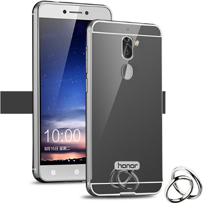 LXHGrowH Funda Espejo Aluminio Metal Carcasa para Huawei Honor 6X ...
