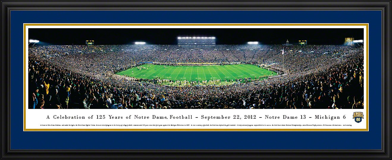 Blakeway Panoramas College Sports Posters Notre Dame Football 125th Anniversary