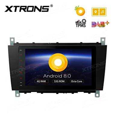 XTRONS 8 pulgadas Android 8.0 Octa Core 4G RAM 32G ROM Multi Touch Screen Car Stereo