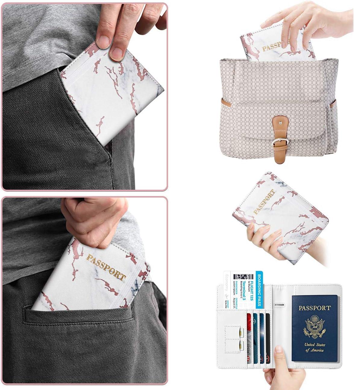 Cartera de Cuero de Pasaporte Unisex con 4 Ranuras para Tarjetas Supgear Funda de Pasaporte Porta Pasaporte para Tarjeta de Cr/édito y Billete Cactus