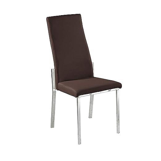 Adec - Silla de comedor estructura cromada , sillón tapizado ...
