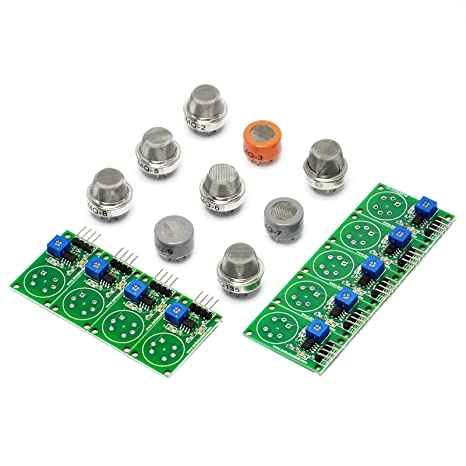 Amazon.com: Gikfun MQ2 MQ3 MQ4 MQ5 MQ6 MQ7 MQ8 MQ9 MQ135 sensor each 1pc Diy for Arduino EK8238: Computers & Accessories