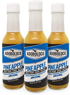 product image for Adoboloco Hot Sauce Pineapple Habanero Delicious Hawaiian Habanero Pepper Sauce (3-Pack) Medium Fiery Chili Pepper Sauce Bundle