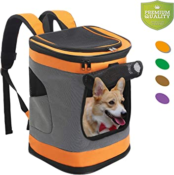 SENGU Mochila para Transportar Mascotas para Perros pequeños y ...