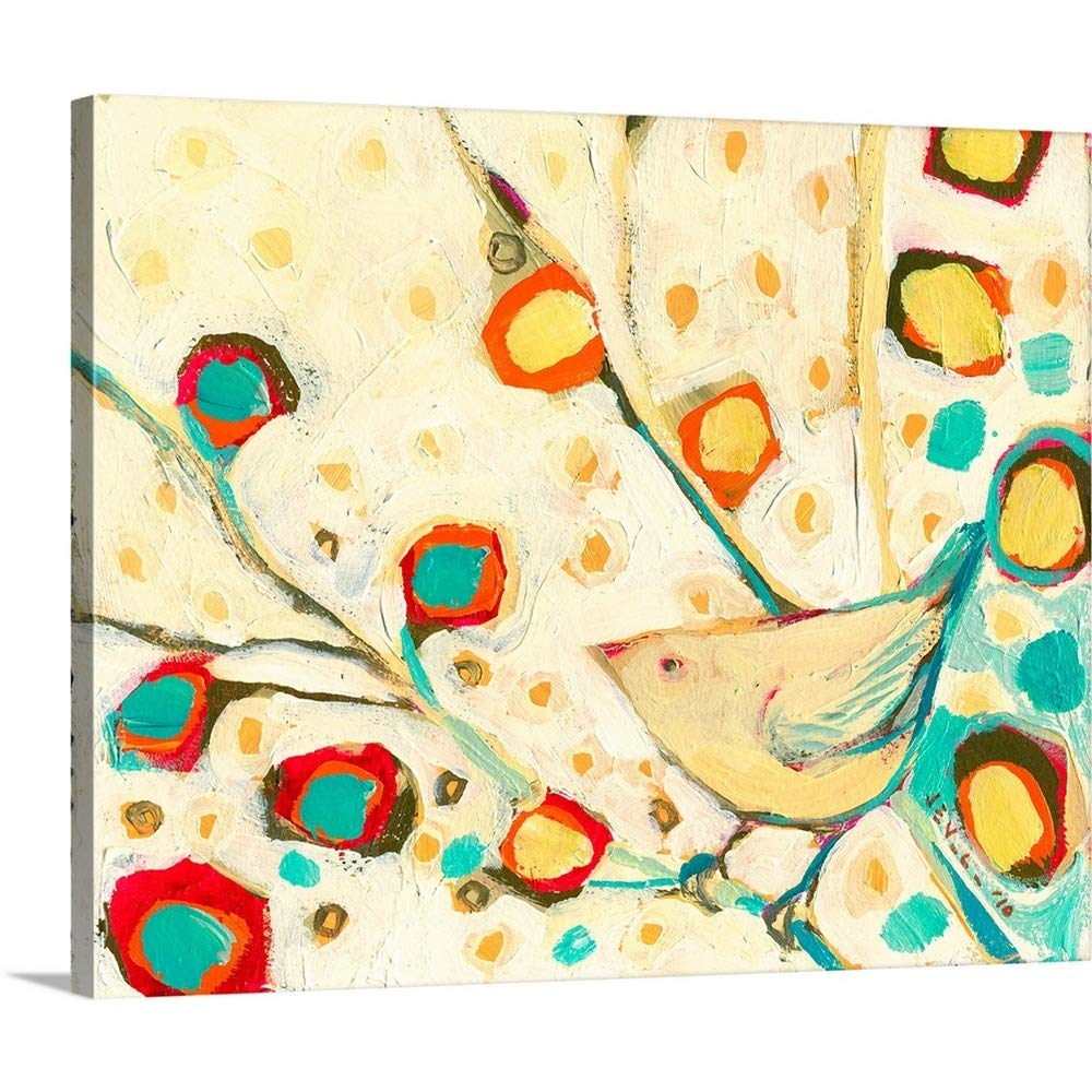 Jennifer Lommersプレミアムシックラップキャンバス壁アート印刷題名Watching The Blossoms Fall 30