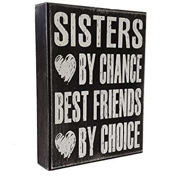 Amazoncom Sister Gifts From Sister Sign Sisters By Chance Best