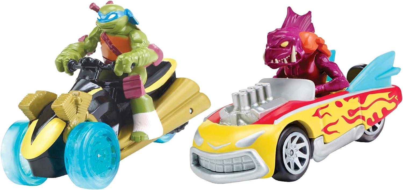 Teenage Mutant Ninja Turtles T-Machines Leonardo in AT-3 and Fishface in Shellcrusher Diecast Vehicle (2-Pack)