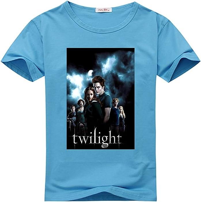 af89b1839d19e Amazon.com: Top-Tshirt The Twilight Saga Custom Men's Classic 100 ...
