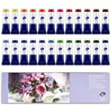 Paul Rubens Watercolor Tubes, 12ml Tubes 24 Colors Artist Grade Watercolor Paints Set, Flower Color Matching, Perfect for Hobbyist and Artist