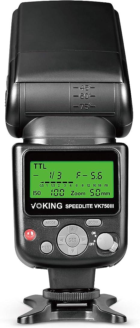 Voking VK750III - Flash de Modo Esclavo TTL Speedlite con Pantalla ...