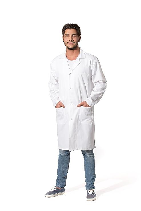 ZOLLNER Bata de Laboratorio Hombre, algodón, Blanca, Tallas de 44 ...