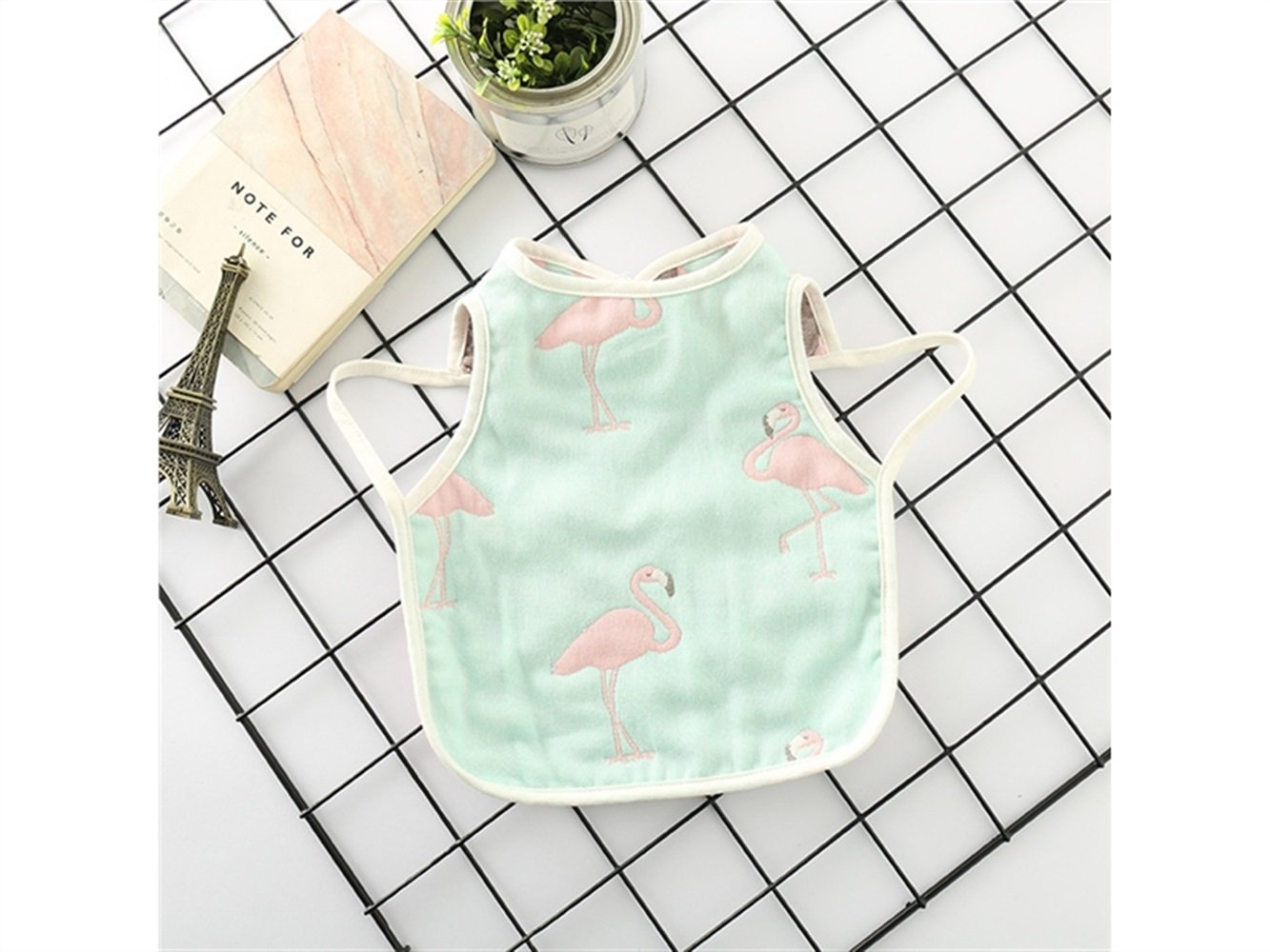 Huyizhi Lovely Flamingos Pattern Creative Toddler Baby Saliva Towel Waterproof Baby Bib Drool Bib for Boys and Girls(Green) for Your Baby