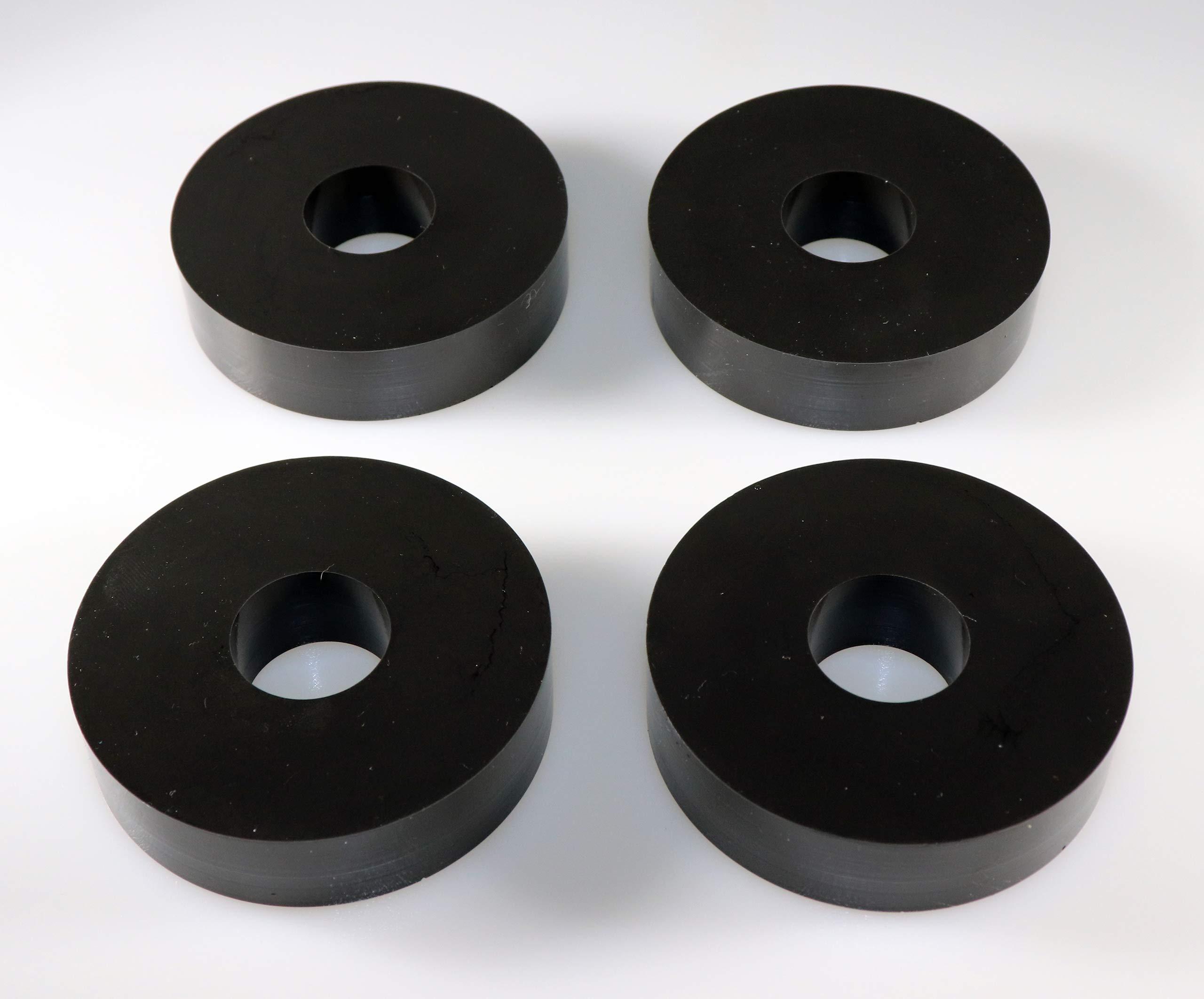 Sorbothane Premium Vibration Isolation Washer (3'' OD x 1'' ID x 0.75'' Thic, 30 Durometer (Soft))