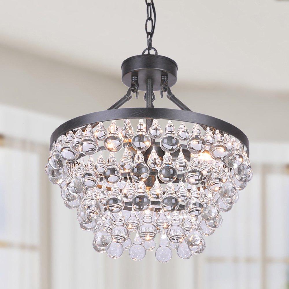 Ivana 5-light Luxury Crystal Chandelier in Antique Black