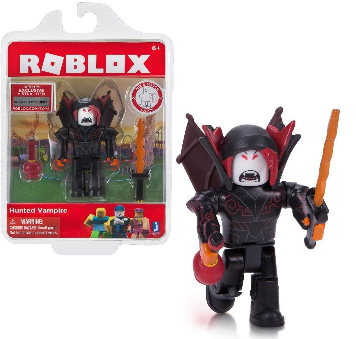 amazoncom roblox hunted vampire action figure comes Roblox Hunted Vampire Action Figure Comes With A Unique Code That Can Be Redeemed For Exclusive Virtual Item Amazon In Home Kitchen