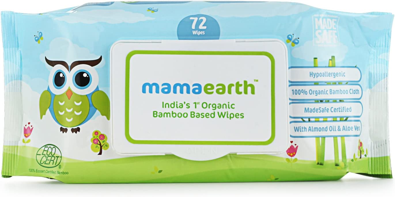 Mamaearth India's First Organic Bamboo based Baby Wipes