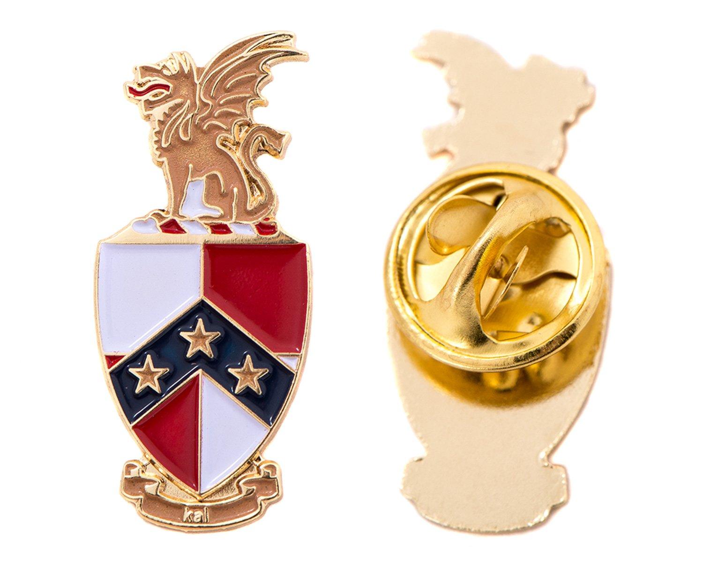 Desert Cactus Beta Theta Pi Fraternity Crest Lapel Pin Enamel Greek Formal Wear Blazer Jacket (Gold Color Lapel Pin)