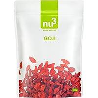 nu3 Bayas de Goji Premium | 250g | Superalimento de moda | Secadas naturalmente sin sulfato | Ideal para el desayuno…