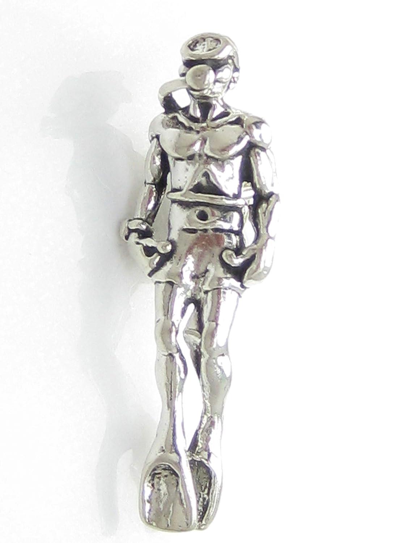 Buzo de plata esterlina 925. x 1 buzo encantos de buceo SSLP1254: Amazon.es: Joyería